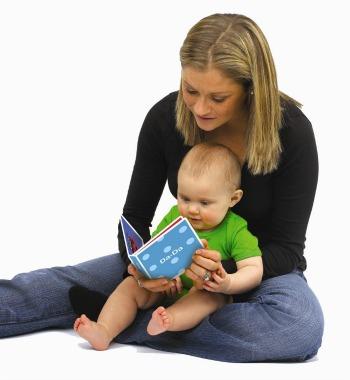 mum reading to baby, reading to children