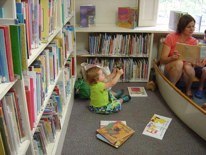 baby at library