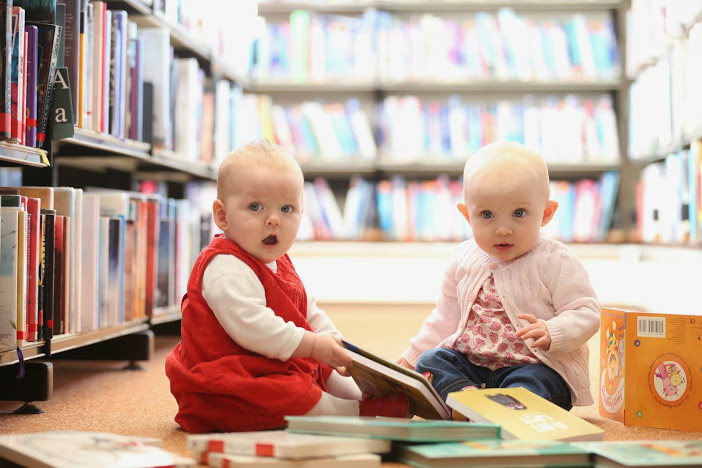 babies at the library