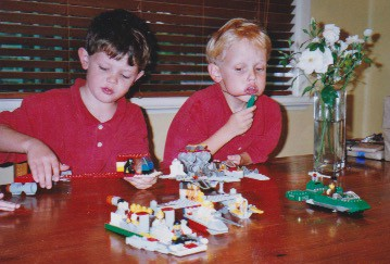 boys with lego