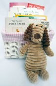 ideas for a baby shower, baby book gift basket
