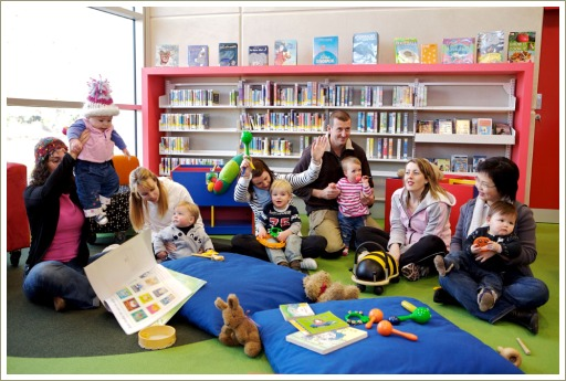 babies and libraries