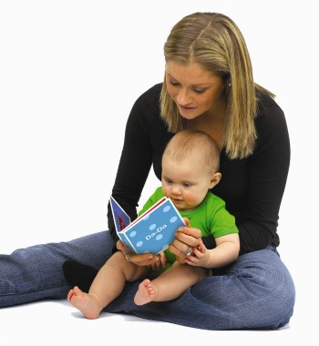 mum reading with baby