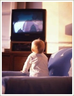baby watching tv
