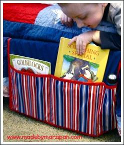 bedside book caddy