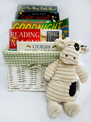 bed time book gift basket