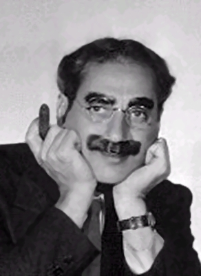 American comedian Groucho Marx