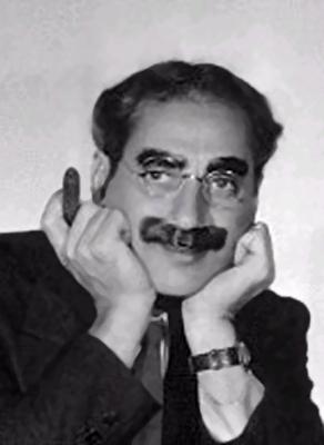 American comedian Groucho Marx