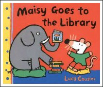 maisy goes to the library, lucy cousins