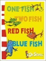dr seuss book titles, one fish two fish red fish blue fish
