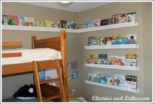 Again, these are mounted low on the wall so the owner of the books can  reach them easily. - Wall Mounted Book Shelves Are Decorative, Easy To Build And