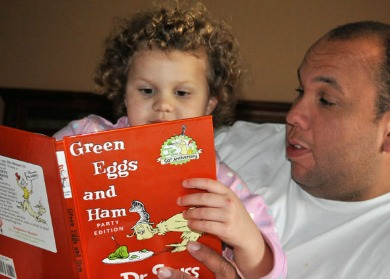 reading green eggs and ham