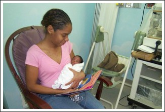 reading to premature baby