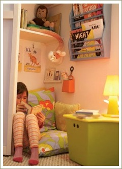 reading nook, raise a reader