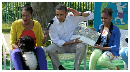 barack obama reading where the wild things are