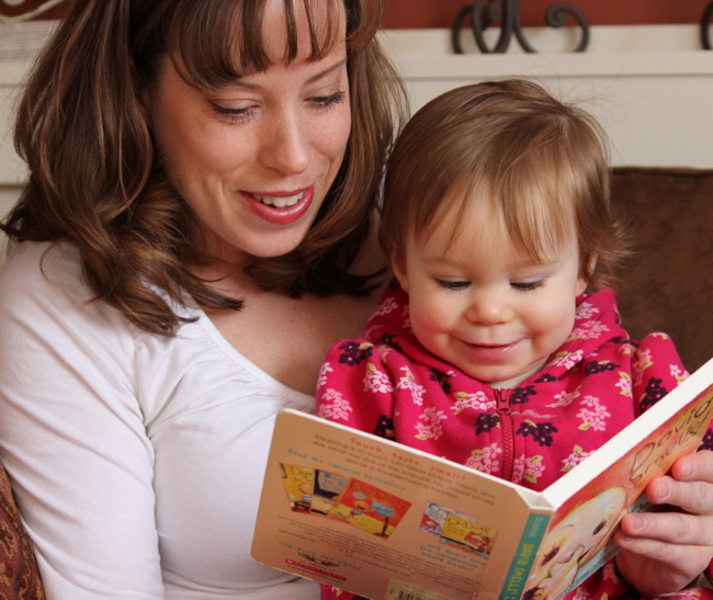 reading to toddler