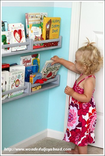 Note That These Shelves Have Been Placed At The Little Girls Eye Level So She Can Reach Them This Is Really Important Because Whole Point Of