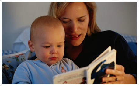 poetry for kids, mum reading to baby
