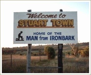 the man from ironbark, stuart town