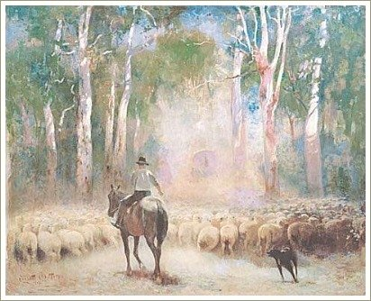 The Drover' by Walter Withers, 1912